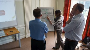 People taking part in Cambium's Sustainability Sales Training