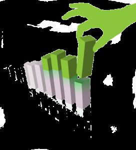 Green hand of gimp