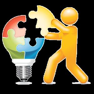 bulb+jigsaw+man